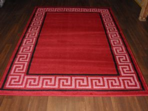 Modern 7x5ft 150x210cm Woven Backed Key Rugs Top Quality Red/Black/Crea BARGAINS